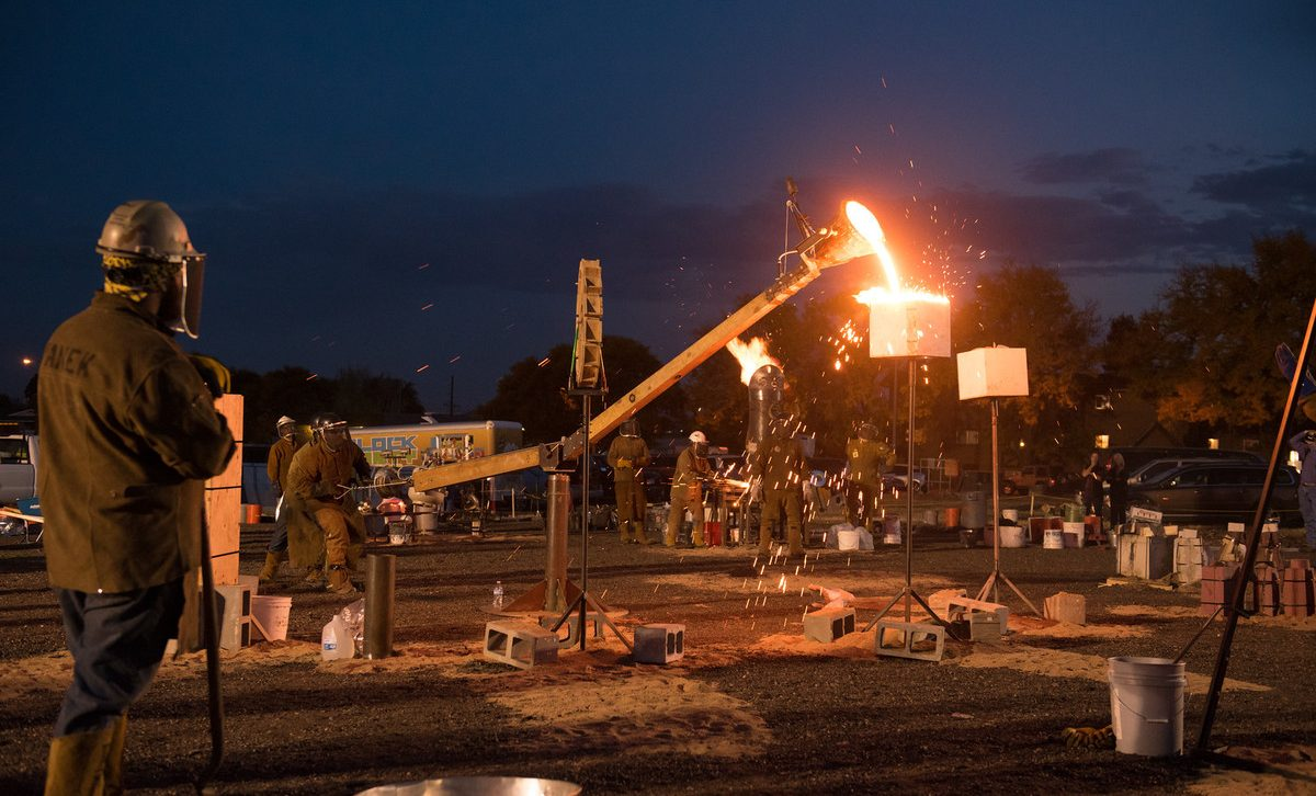 Iron-casting performance at RiNo Oxpecker Ball